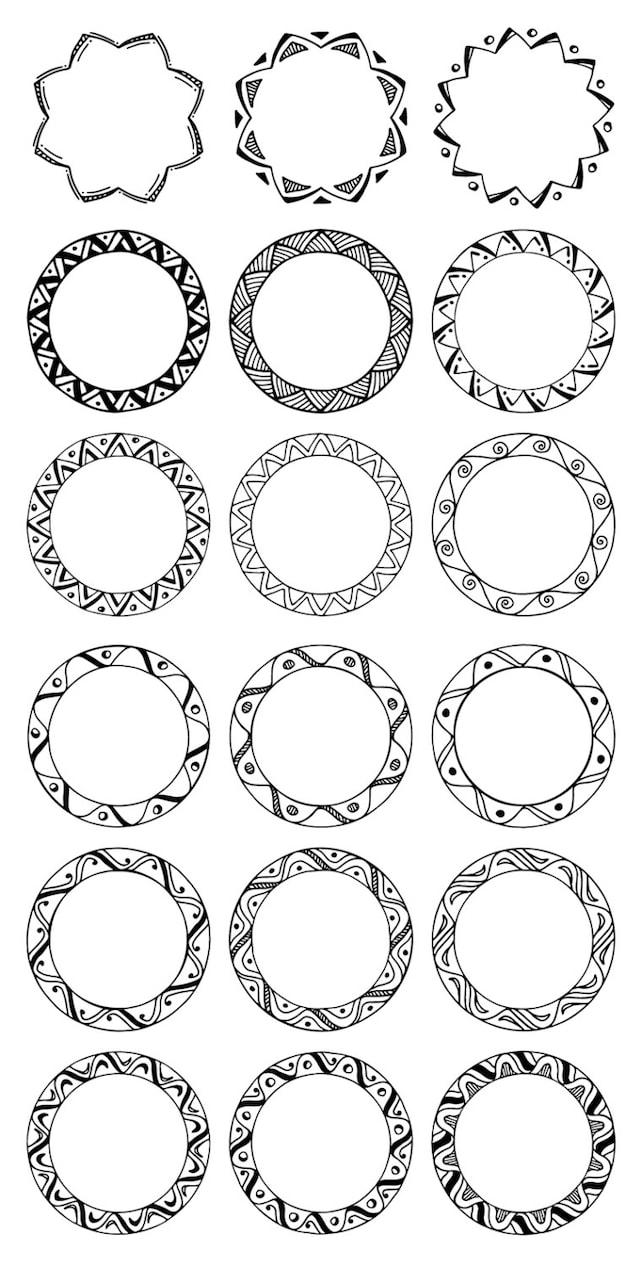 36 hand gezeichnete Runde Zierleisten Kreis Grenzen: Tribal | Etsy