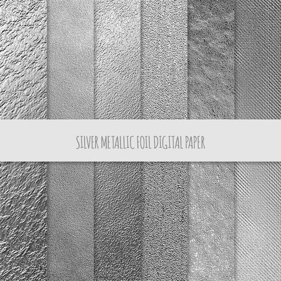 Silver Metallic Foil Background