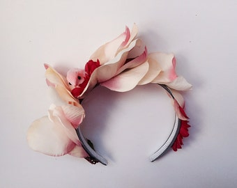 Bashful Birdie, Floral Fascintor, Flower Headband