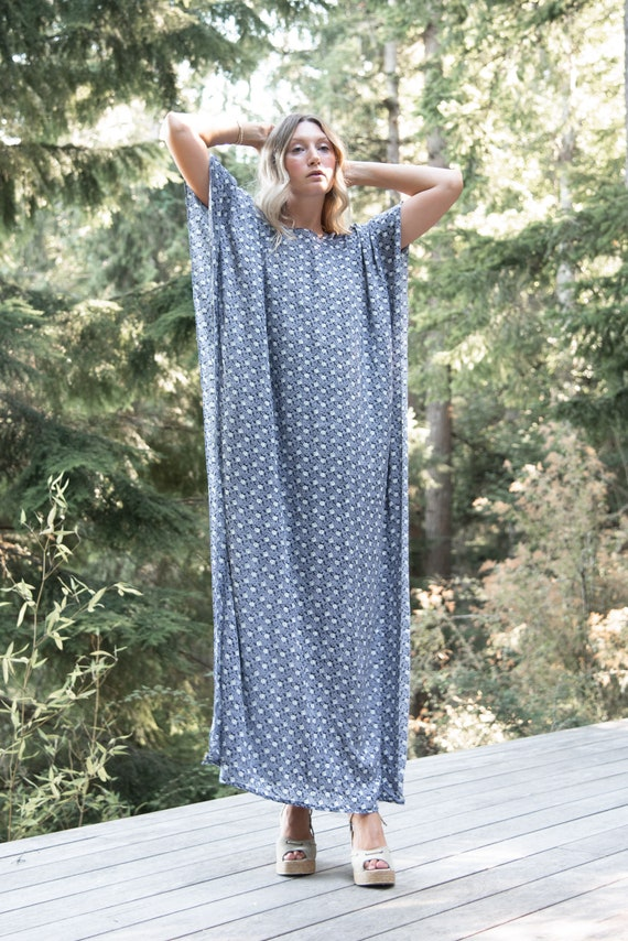 70s Caftan Dress |  Loose Oversized Psychedelic Ma