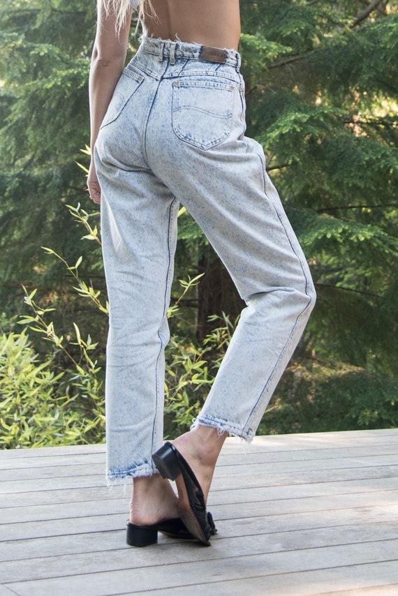 90er Jahre Vintage Damen gelbe Jeans hohe Taille Mama Jeans 38 Größe 10 Größe M Jeans 90er Jahre Grunge Jeans Boyfriend Jeans Streetwear