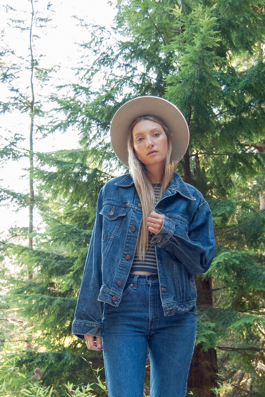 496a77e2e 70's SEARS Denim Jacket Vintage Jean Jacket Women's | Etsy