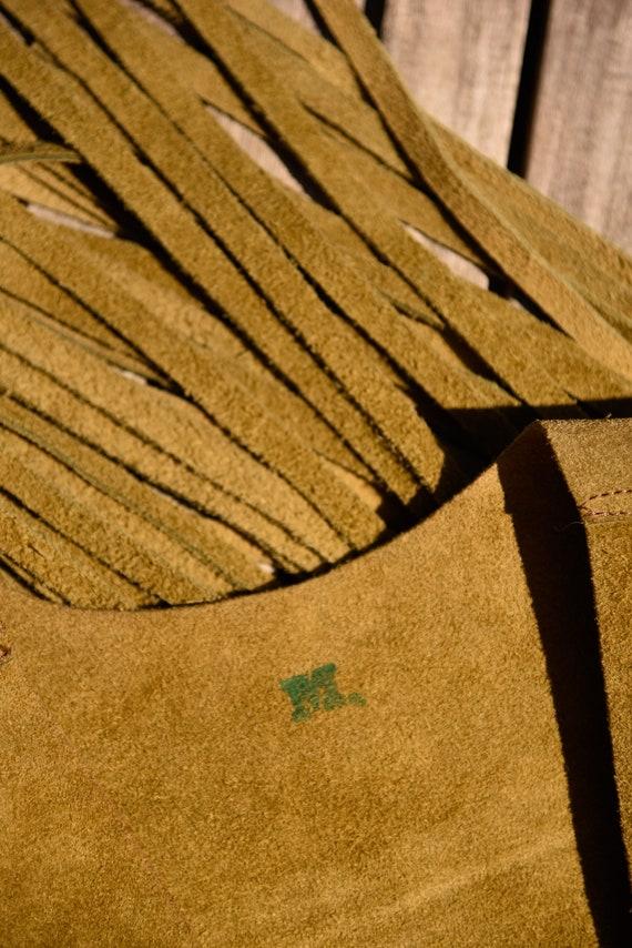 Vintage 70s Suede Fringe Vest |  Suede Leather Ve… - image 10