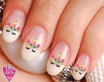 Unicorn Nails Etsy