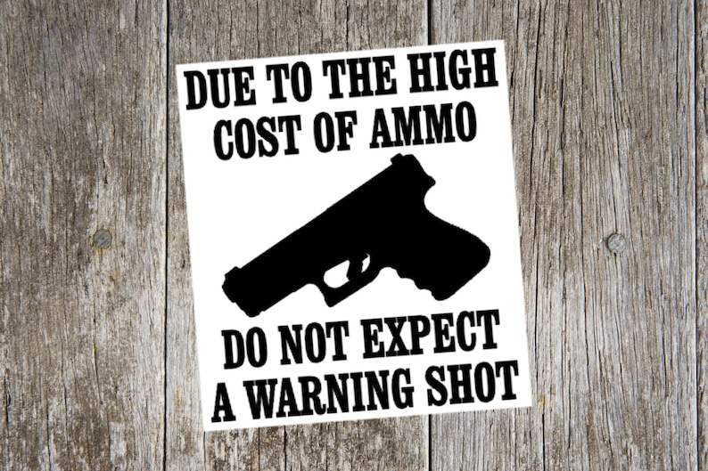 Vinyl Decal - Due to the High Cost of Ammo Vinyl Decal Sticker, pro gun  sticker, pro gun, 2nd amendment, gift for dad, gift for brother,