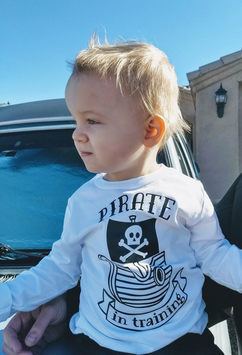 46e8a9e18 Pirate in Training Shirt Cute Toddler Shirt Boys T-Shirt | Etsy