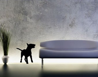 LIFESIZE English Bull Terrier Dog Silhouette Wall Decal -  Choose your Size and Color
