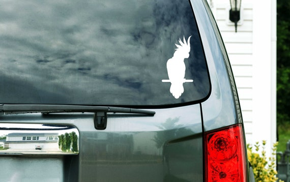 Blue Macaw Colorful Car Vinyl Sticker SELECT SIZE