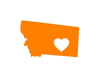 Montana Love Custom Die Cut Vinyl Decal Sticker - Choose your Color and Size