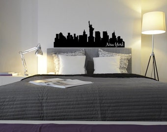 New York City Skyline Wall Decal - Choose your Size and Color