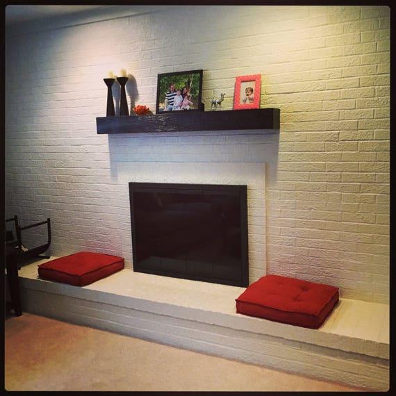 Black Fireplace Mantel Rugged Wood Mantel 60 Long X Etsy
