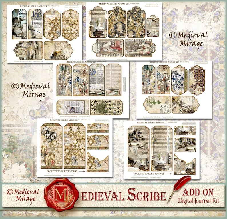 Regency ADD On Part 1 MEDIEVAL MISSIVES-Digital Journal Kit 38 printables Historical Renaissance Baroque Wedding invitations Wax Seals