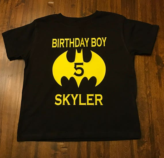 Batman Birthday Boy Shirt