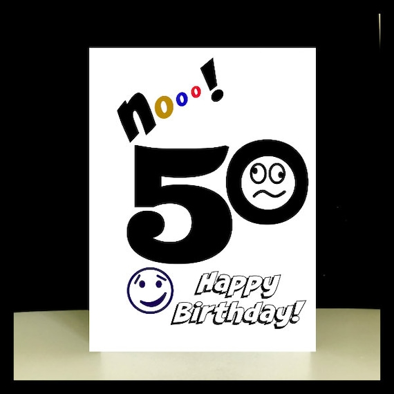 Instant Download 50th Birthday Card Printable Greetings