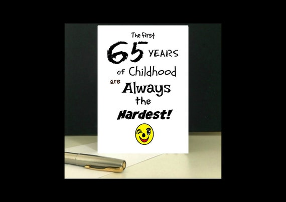 Downloadable 65th Birthday Greeting Card Digital