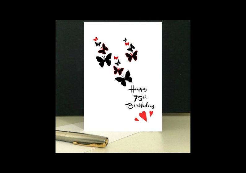 Downloadable 75th Birthday Card Printable Greetings