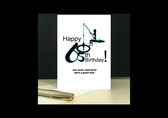 Fishing 65th Birthday Card Greetings To Download And