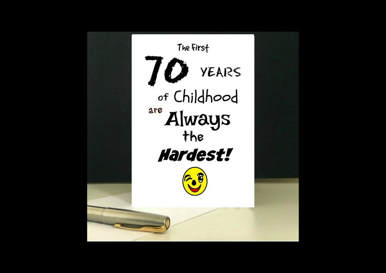 Downloadable 70th Birthday Greeting Card Digital