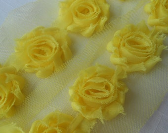 A FABULOUS  Yellow golden tonal tone on tone roses floral by the yard quilting fabric cotton by the yard