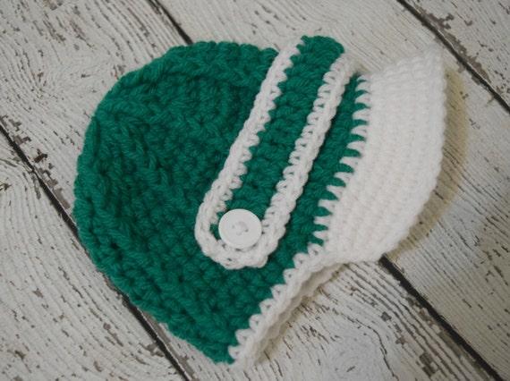 Grün-weißen neugeborenes Baby Mütze Balloon-Mütze häkeln | Etsy