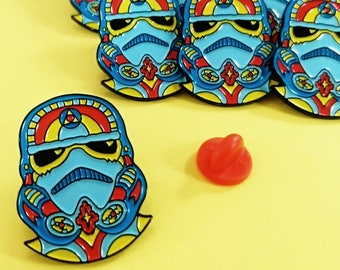 Star Wars Pin, Stormtrooper Pin, Enamel Pin, Lapel Pin, Soft Enamel Pin, Star Wars Badge, Stormtrooper Brooch, Boyfriend Gift, Gift For Him.