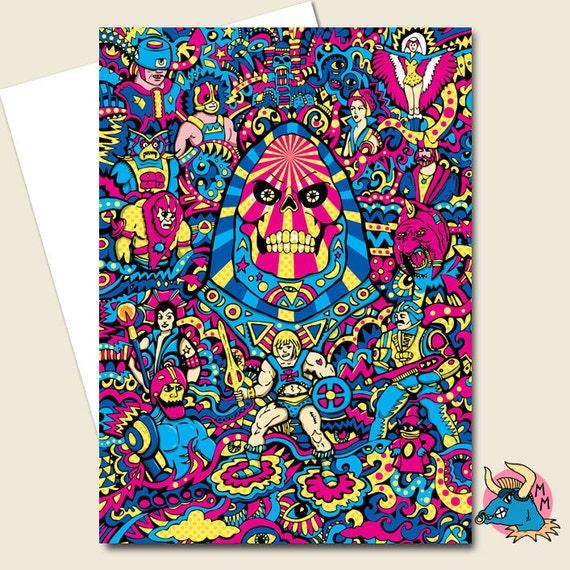 Skeletor Card Birthday Card He Man Card Boyfriend Card Etsy