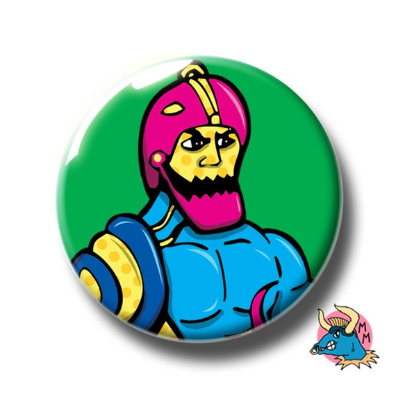 LARGE HE-MAN THE MASTERS OF THE UNIVERSE 58MM BUTTON PIN BADGE