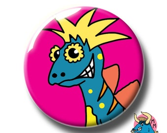 Dinosaur Badge. Pin Badges. Badges. Button Badges. Kids Gift. Childrens Gift. Pins. Buttons. Pinback Button Badge.