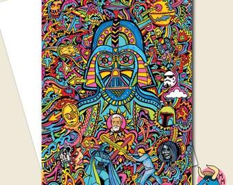 Star Wars Card, Birthday Card, Darth Vader Card, Boyfriend Card, Card For Him, Greeting Card, Husband Card, Boyfriend Birthday, Boys Card.
