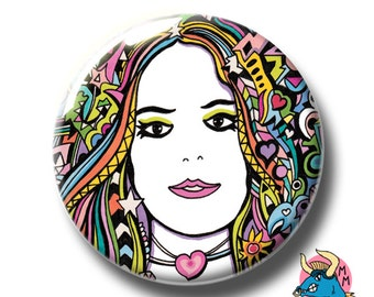 Rainbow Girl Badge. Girl Pin. Love Badge. Valentines Badge. Badges. Button Badges. Pin Badge. Pin. Buttons. Pinback Button Badge. Cool Badge