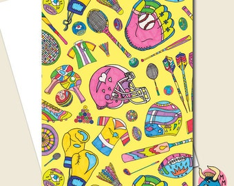 Sports greeting card etsy sports greetings card m4hsunfo
