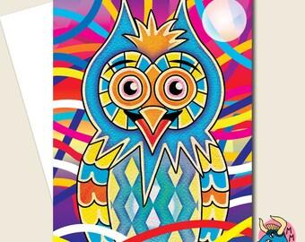 Owl Card, Birthday Card, Greeting Card, Funny Card, Cute Card, Card For Him, Card For Her, Boyfriend Card, Girlfriend Card, Husband Card