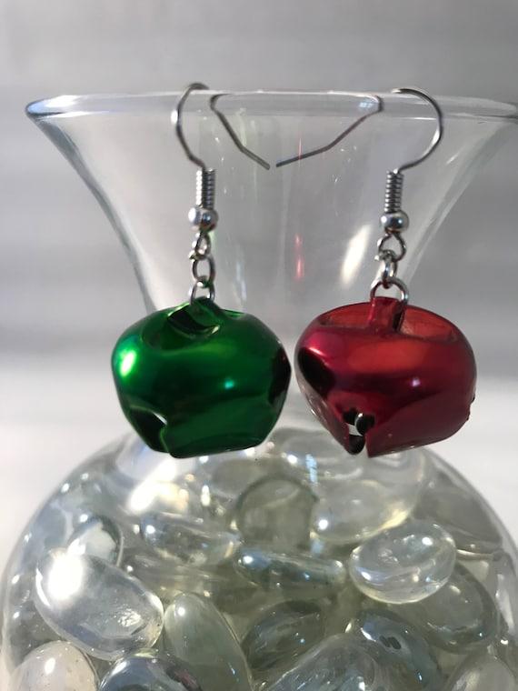 Christmas Earrings, Christmas Bell earrings, Holiday Earrings, Xmas Earrings, Handmade Earrings, Gift for mom, coworker, sister