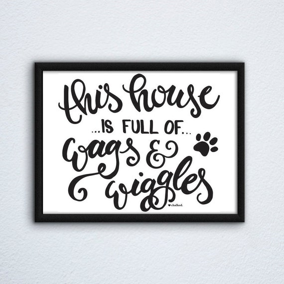 Dog Decor Print, Printable Wall Art Print, Printable Art, Digital Download, Poster, Digital Print, Dog Mom Decor, Home Decor