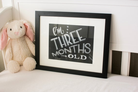 Baby Milestones Signs, Chalkboard Baby Signs, Baby growth sign