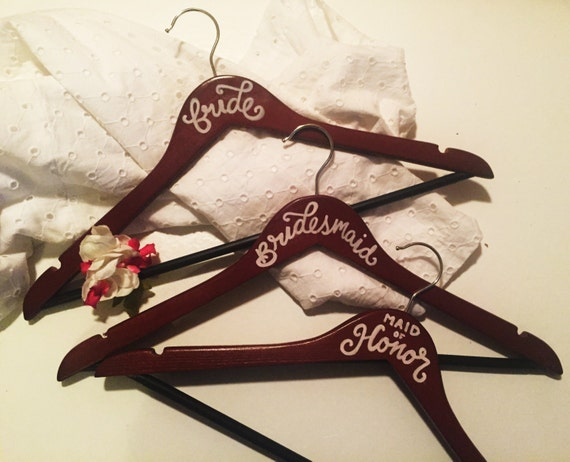 Custom Wedding Hanger, Bride Hanger, Personalized Bride Hanger, Bridesmaids Gift