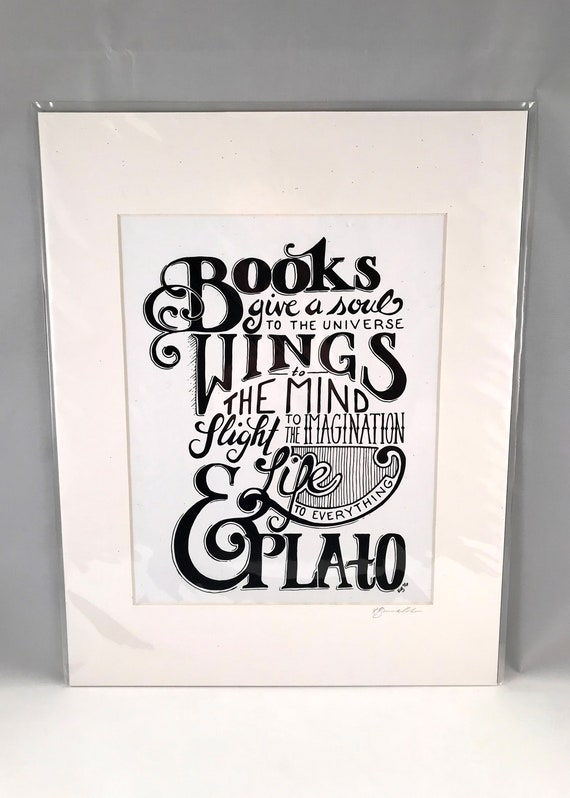 Hand Drawn Plato Print, Hand Written Quote Signs, Home Decor Quote, Gifts for the Home, Gift for Mom, Gift for Co Worker