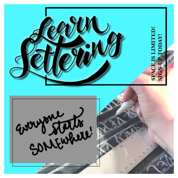 Hand lettering In Person Class Near Bend Oregon