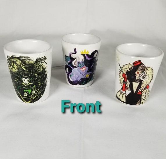 """Disney Villians Cruella DeVille /""""Cruella/"""" Ceramic Shot Glass Collector Glass"""