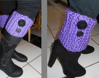 Lavender Knee/ankle Boot Toppers
