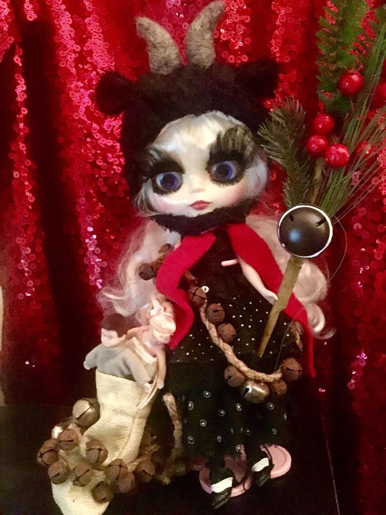Custom Blythe krampus doll