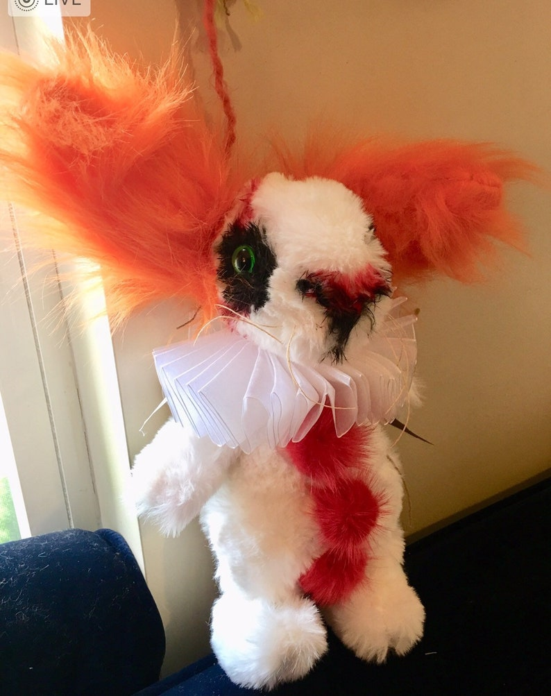 Plush bunny pennywise the clown