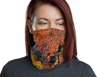 Harvest Rust Texture Face Cover
