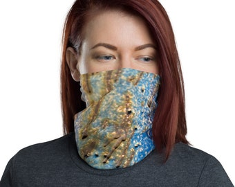 Blue/Yellow Drips Face Cover