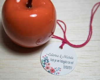 Customizable tags for wedding favors, confetti, wedding labels tickets