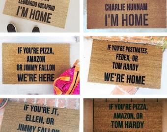 """Customize """"If You're _____, _______, or ______ """"  door mats-custom door mat-welcome mat-cute door mat-personalized doormat-shop josie b"""