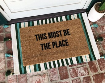 This Must Be The Place - Doormat - Doormats - Welcome Mat - Custom Doormat - Personalized Gifts - Shop Josie B