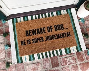 Beware Of Dog Doormat - Doormats - Welcome Mat - Funny Doormat - Custom Doormat - Personalized Doormat - Cute Doormat - Shop Josie B