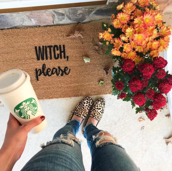 Witch Please Halloween Doormat