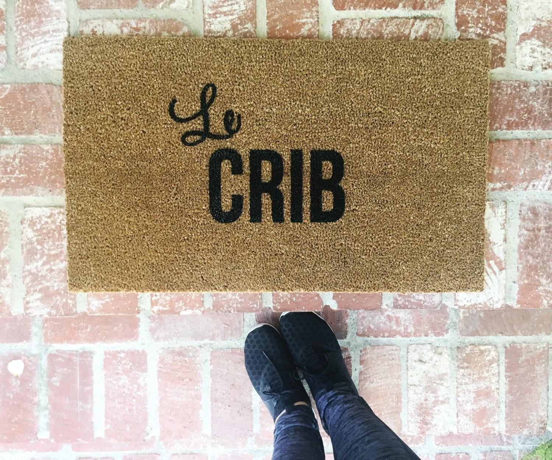 Le Crib Doormat-Doormat Doormats Funny Doormat Welcome Mat